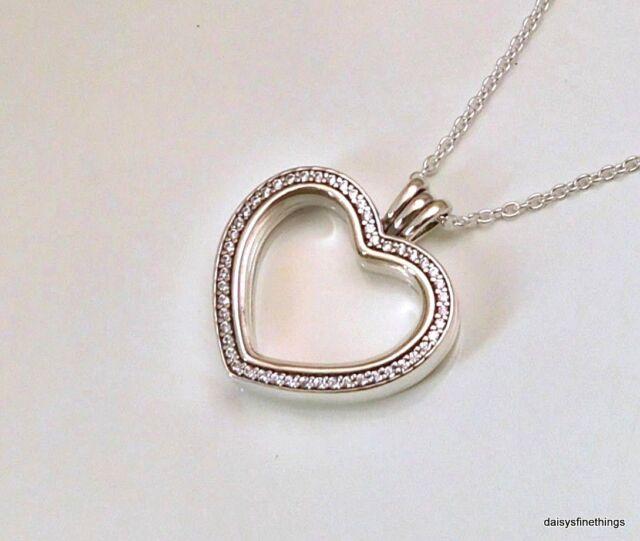 e822740b07cf5 PANDORA Sparkling Floating Heart Locket Necklace 397230CZ60