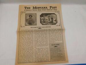 "Vintage ""The Montana Post"" Restaurant Menu Winter 1999"