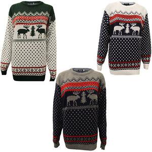 bdccad7897 Dettagli su DONNA UOMO NATALE MAGLIA RENNA GADGET UNISEX di maglione  invernale