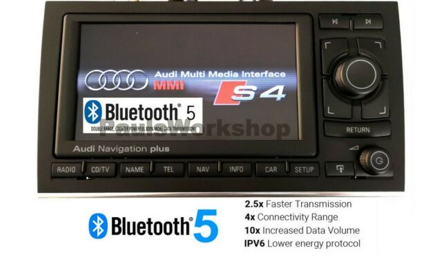 Audi originales RNS-E navegación plus Bluetooth 5.0 + aux a4 s4 rs4 8e b6 b7 04-09