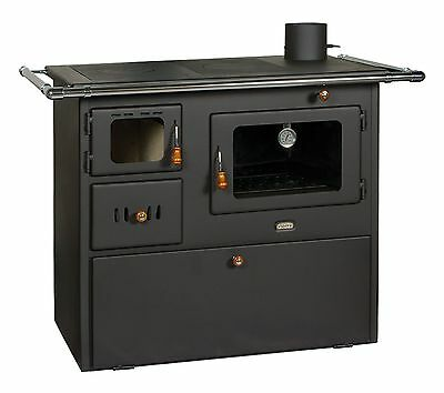 Wood Burning Stove Oven Cooking Solid Fuel Log Burner Cast Iron Top Prity 14kw