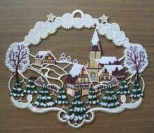 PLAUENER SPITZE ® Fensterbild WEIHNACHTEN Kirche WINTERLANDSCHAFT Winter Deko
