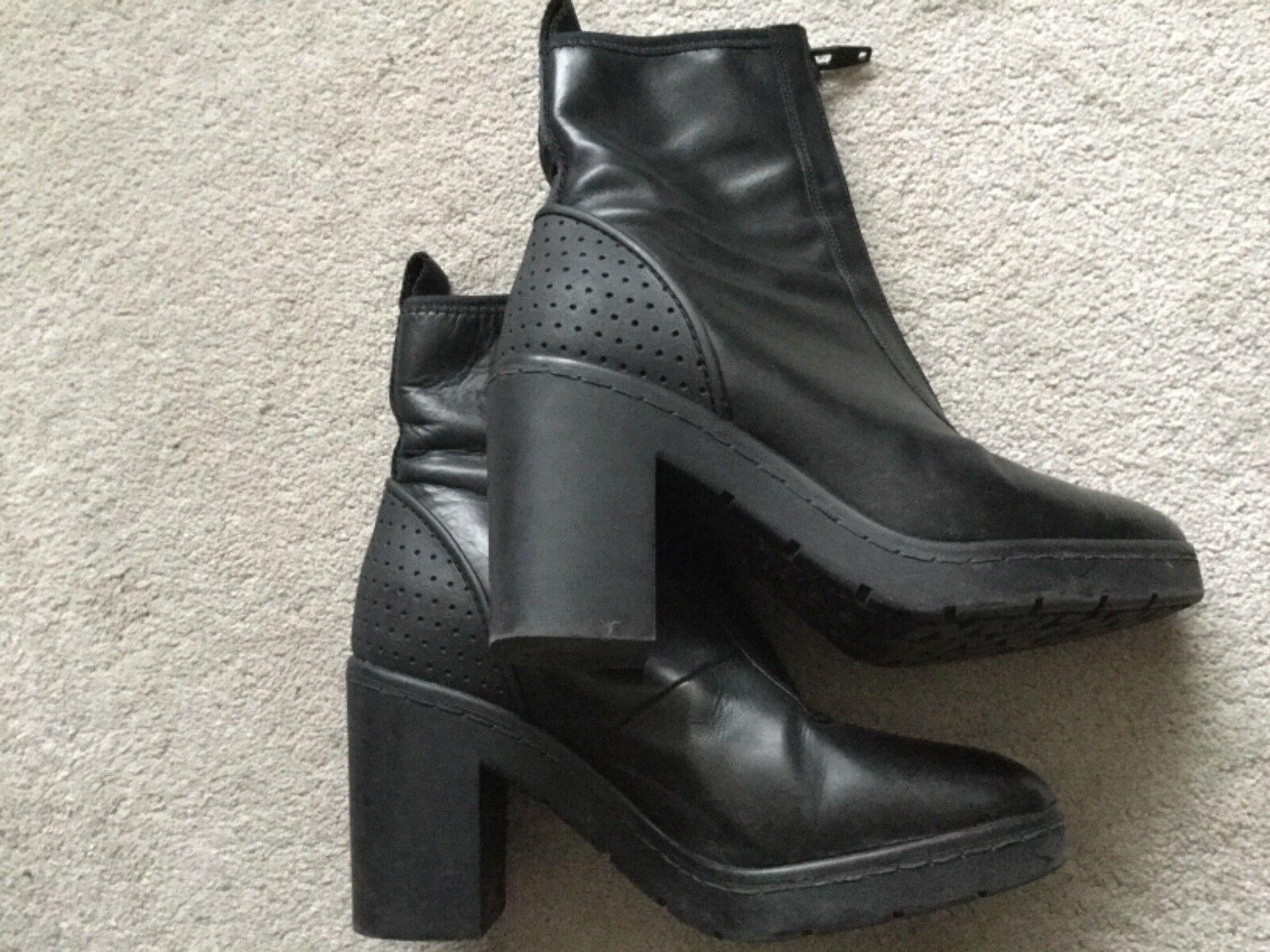Designer Platform Alexander Wand for H&M Platform Designer Leder Ankle Stiefel Größe 39 cfc06f