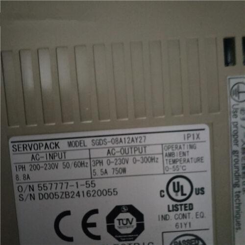 1pc Used Yaskawa servo drive SGDS-08A12AY27