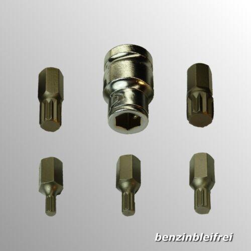 "Spline Vielzahn Bitsatz 6-tlg XZN5-XZN12 M5-M12 x30mm Aufnahme 1//2/"" x 10mm  CrV"