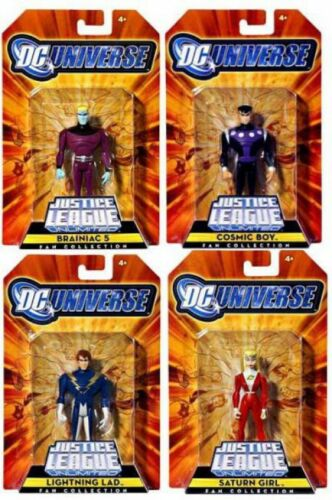 DC Justice League Unlimited Legion of Super Heroes Set of 4 Action Figures
