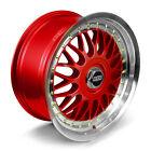 BBS RS Alloy Wheels Rim Sports Mags 17X8 8 Stud 5x100 Sets of 4 MI RED