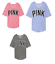 Victoria/'s Secret Pink Boyfriend V-Neck Jersey Tee Shirt Oversized VIOLET  PINK