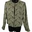 NWT-Jones-New-York-Tan-amp-Multi-Color-Paisley-One-Button-Shoulder-Padded-Jacket-8 miniatuur 1