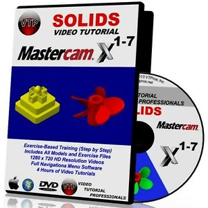 mastercam x1 x7 solids video tutorial hd quality training course x2 rh ebay com Mastercam Latest Version Lathe Mastercam X4 Tutorial