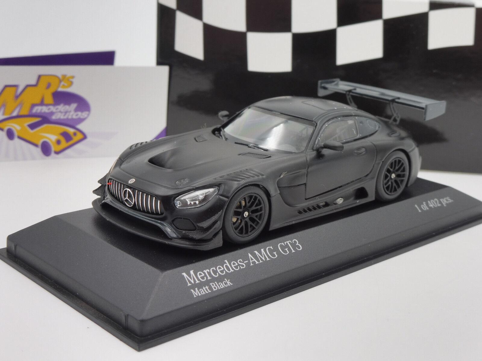 MINICHAMPS 410173201-Mercedes-Benz AMG gt3 année-modèle 2017  NOIR MAT  1 43