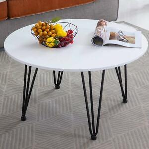 EGGREE tavolo da pranzo in MDF Rotondo Bianco,80 * 80 * 45 cm,Per ...