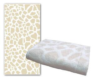 Dyckhoff-034-Giraffe-034-gemustert-Handtuecher-Duschtuecher-sand-waehlbar-480-gr-m2