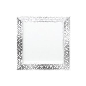 Plat lumineux//effet de miroir//mosaïque photo//poster cadre instagram carré argent