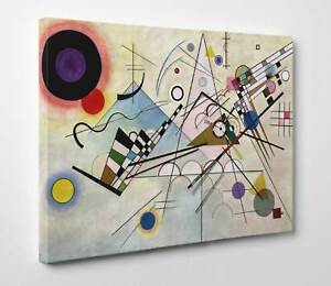 Quadro-Kandinsky-Composizione-8-Stampa-di-Pregio-su-Tela-Vernice-Pennellate