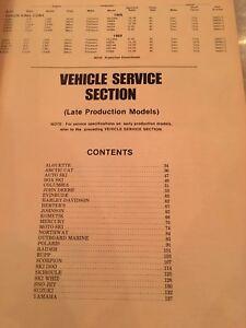 Vintage-Snowmobile-Service-Manual-Shop-Mechanic-Repair-Rupp-Alsport-Chaparral
