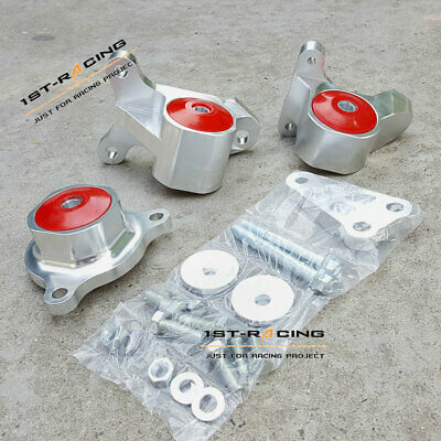 For Acura RSX Honda Civic SI K24 K20 CNC Billet Aluminum Motor Mount Kit Red Set