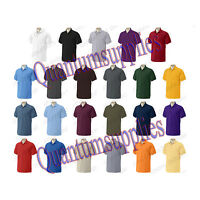 Adult Gildan Plain Ultra 100% Cotton Heavyweight Polo T Shirt - s m l xl  xxl