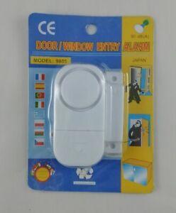 2 X Alarme de Sécurité pour Fenêtre Porte Anti Intrusion Signal Sonore 90 dB