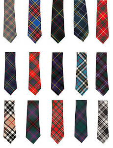 lusso dal costo ragionevole disponibile Dettagli su Uomo 100% Lana - Tradizionale Tartan Scozzese Cravatta Sposo  Cerimonia Sera