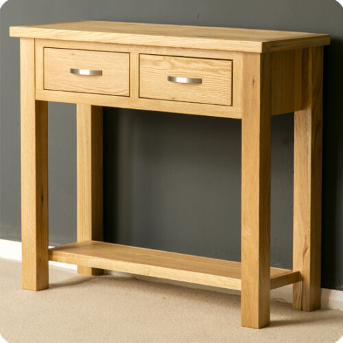 Foyer Table Uk : London oak large hall table console solid wood