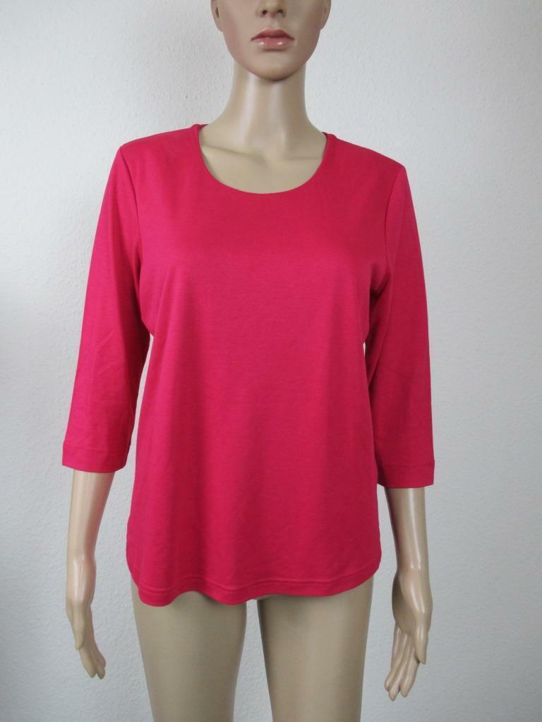 Efixelle Shirt mit 3 4 Arm, Rundhalsausschnitt, Farbe Rosa , Größe 36