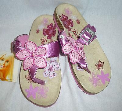 Barbie-Rosa Glitter Toe Post Sandalias - 1/33 Nuevo (g2368)