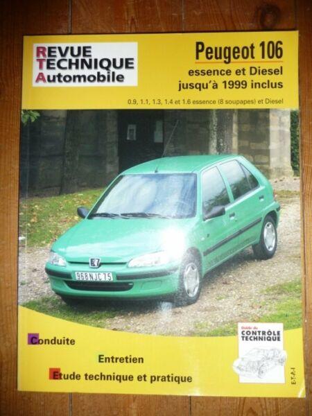 106 -99 Revue Technique Peugeot Etat - Bon Etat Occasion