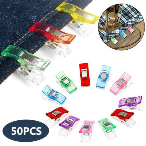 Pack of 50pcs Wonder Clips For Quilting Crochet Sewing Knitting Craft Fabric @