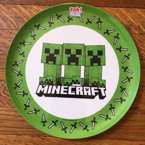 """Zak Designs Minecraft BPA-Free 10/"""" Dinnerware Plate"""