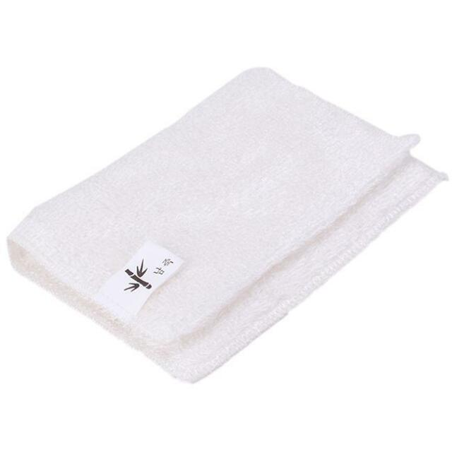 Kitchen Soft Double Thickness Bamboo Fiber Dish Wash Cloth Towel Rags Dishcloths