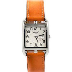 Hermes Cape Cod Cc2 710 Orange Wrap Around Bracelet Steel
