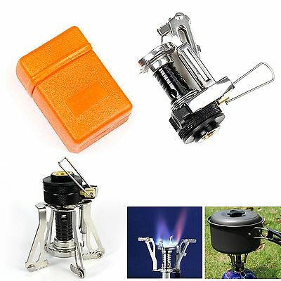 Mini Portable Outdoor Gas Butane Propane Canister Camp Stove Burner Backpacking