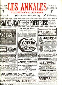 Capable Les Annales Politiques 1904 N° 1082 -claretie - A. France -de Goncourt -barras -