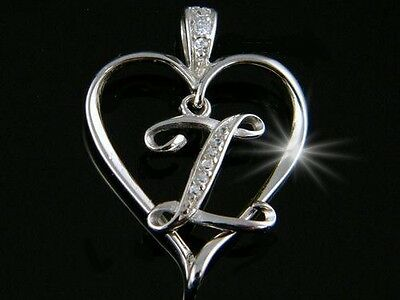 Silberanhänger Alphabet Herz 925 Zirkonia Buchstabe B VERGOLDET