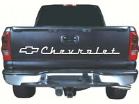 Fits Og Chevrolet Tailgate 52 X 4 White Vinyl Sticker Decal Rear Classic Chevy