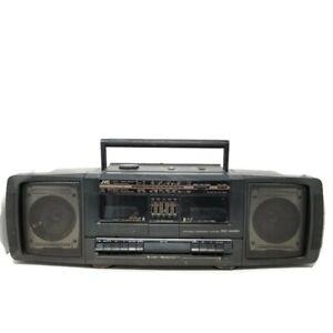 Vintage Boombox JVC PC-W100 AM FM Dual Double Cassette Player Recorder