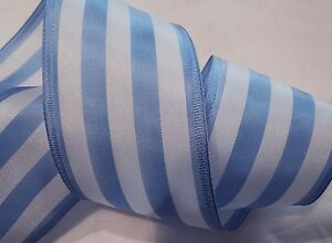 2-1-4-034-WIDE-LT-BLUE-WHITE-STRIPE-TAFFETA-RIBBON-MADE-IN-JAPAN-MILLINERY-ETC