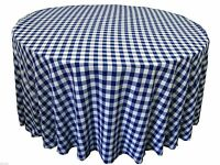 5 Packs 120 Inch Gingham Checkered Tablecloths Buffalo Polyester Made In Usa