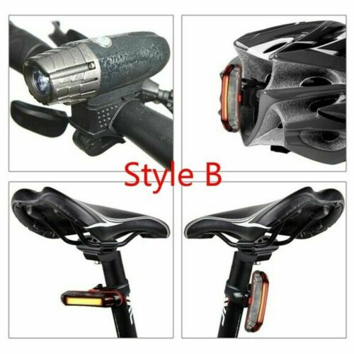 LED Bicycle Headlight Bike Head Rear Light Front Lamp Cycling USB Rechargeable