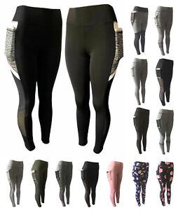 8ea35f9da9690 Image is loading Women-Compression-Fitness-Leggings-Running-Yoga-Gym-Pants-