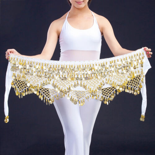 Professional 320 Silver Coins Belly Dance Dancing Hip Scarf Costume Belt FunnyYH