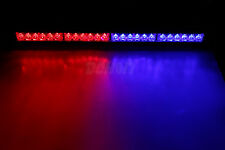 RED Blue Strobe Light Bar Emergency Advisor Police Warning Flash Lamp 12V DC DIY