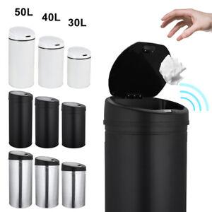 Automatik-Sensor-Muelleimer-30-50L-Papierkorb-Abfalleimer-Kuecheneimer-Edelstahl