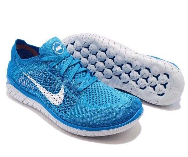 Nike US Free RN Flyknit 2018 WMNS RUNNING 942839-400 Blu US Nike 8 EU 39 NUOVI ebcc2a