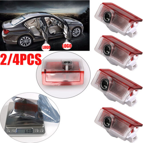 2//4PCS Mercedes-Benz LED Door Courtesy Logo Laser Projector Lights Ghost Shadow