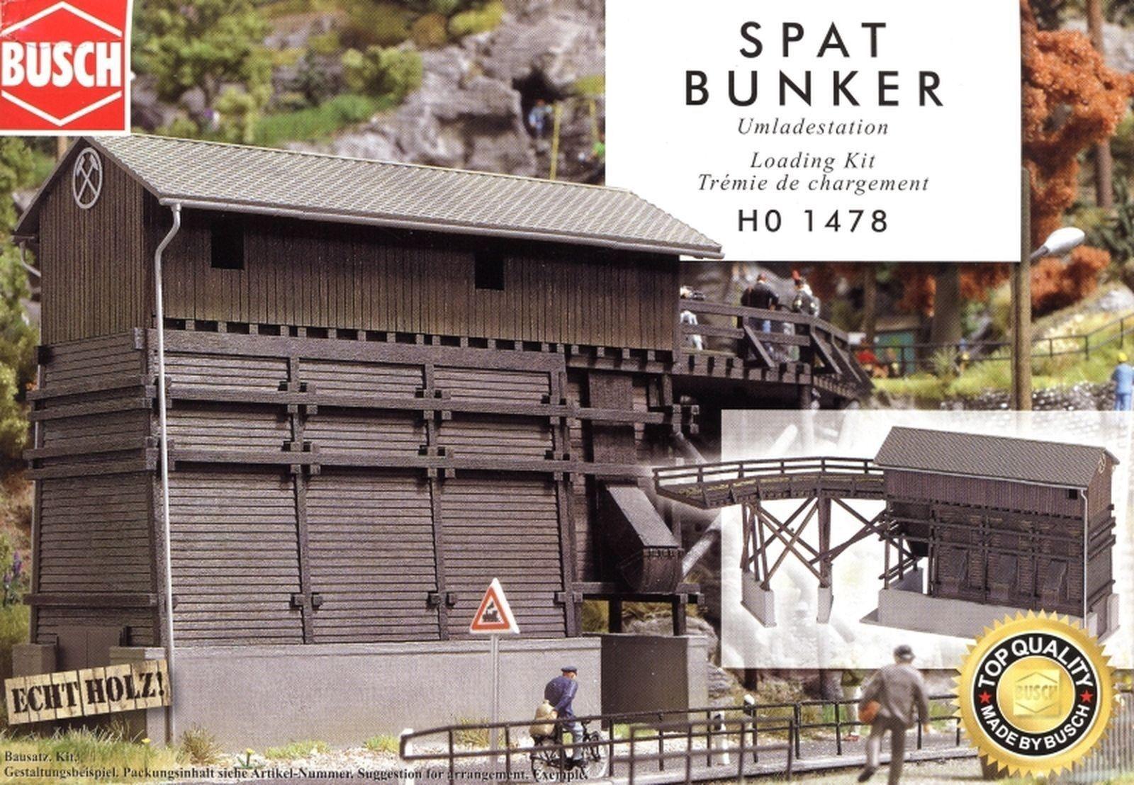 Busch H0 1478 Spat Bunker    Umladestation, Echt Holz Bausatz    Ausgezeichnet (in) Qualität