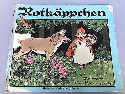 Grimm Märchen Buch Bilder Kinderbuch Rotkäppchen Fritz Baumgarten Leipzig 1928 Ebay