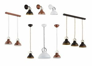 Pendant-Ceiling-Loft-Light-Vintage-White-Copper-Wenge-Industrial-Retro-Fitting