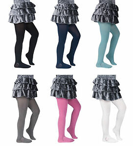 64d5913b1 Image is loading Girls-039-Satin-De-Luxe-Tights-100-Denier-